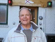 Hans Fogh in front of Danish yacht club