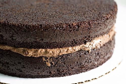 intense deep chocolate cake - layers