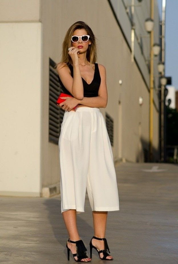 how to wear culottes 2019  fashiontasty