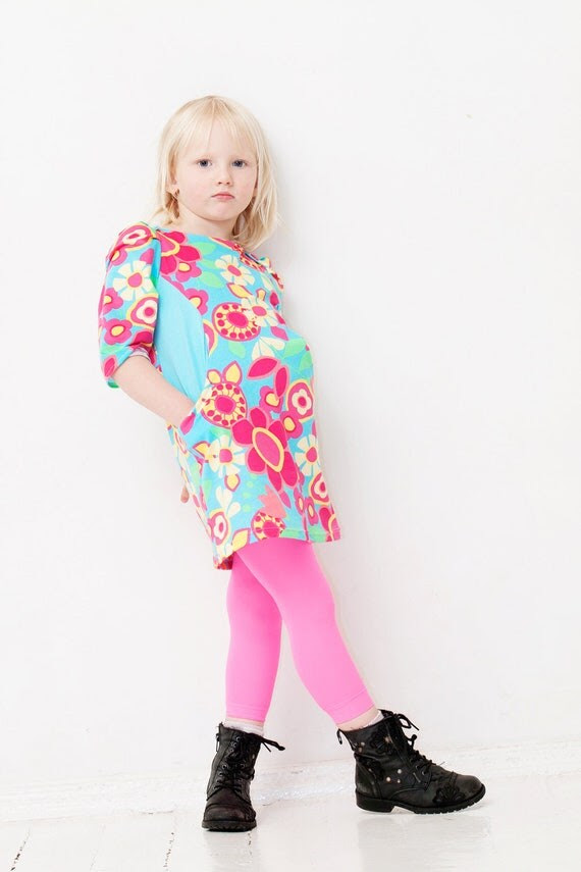 Girls spring dress tunic dress kids clothing funky