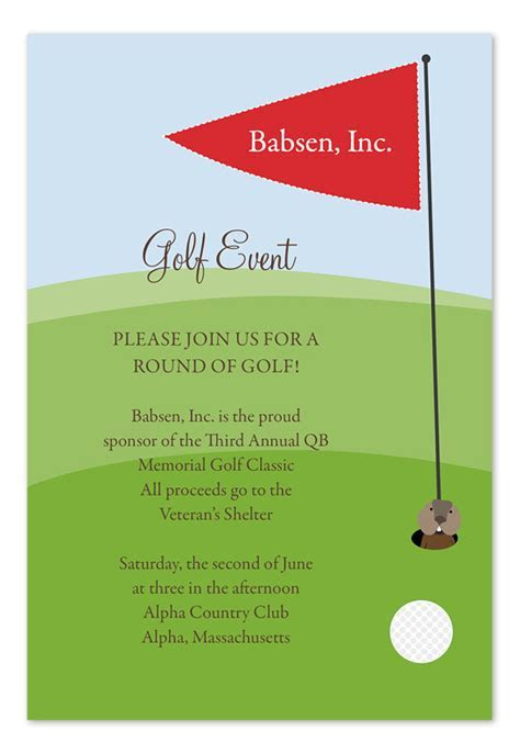 Hole in One   Party Invitations by Invitation Consultants