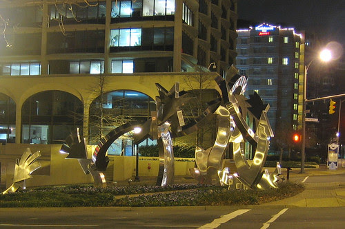 Shiny Sculpture in Rosslyn