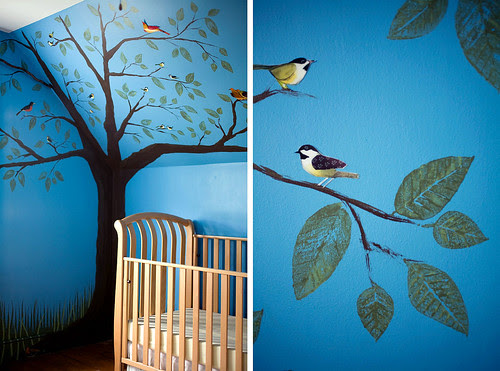 NURSERY_leaves_birds_152_WB por SeptemberAfternoon.