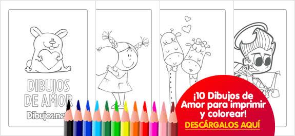 10 Dibujos De Amor Para Imprimir Y Colorear Dibujos Net