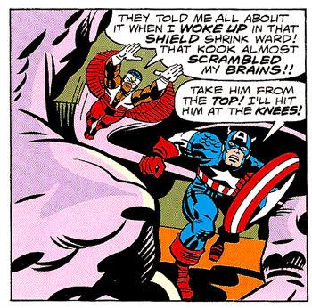 Captain America and the Falcon #205 panel