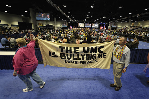 Demonstrators call for inclusive church at 2012 United Methodist General Conference
