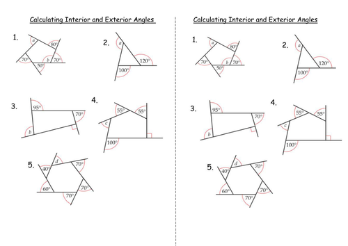 Interior and Exterior Angles of Polygons by clairelogan100  Teaching Resources  Tes