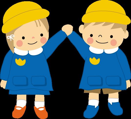 園児幼稚園保育園無料イラストフリー素材