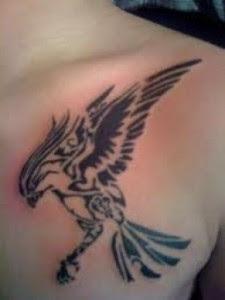 Tribal Hawk Tattoo