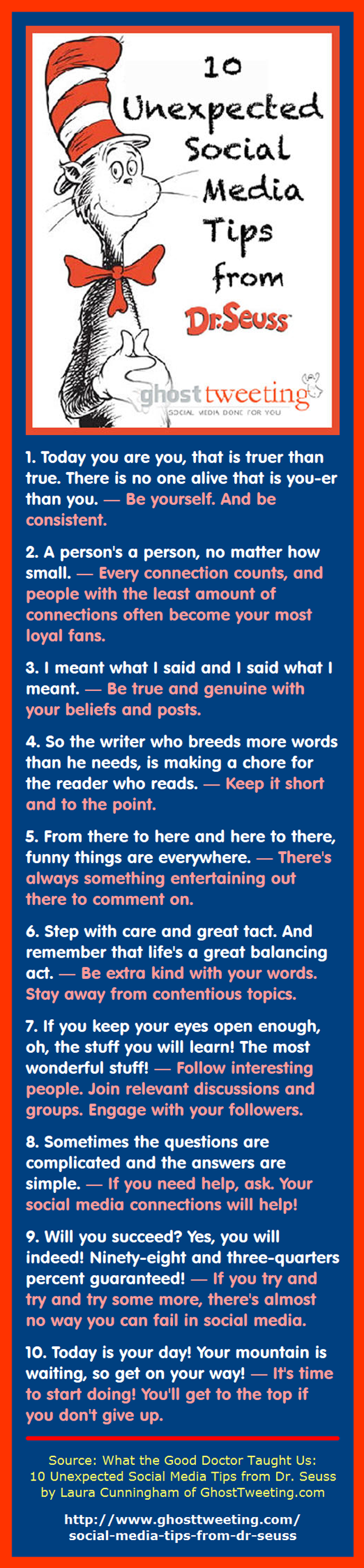 Dr. Seuss: 10 Unexpected Social Media Tips
