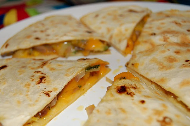The Meeting Of the Quesadillas by Eve Fox, the Garden of Eating, copyright 2008
