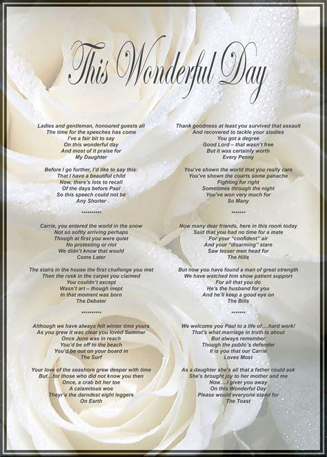 father   brides speech   framed  presented
