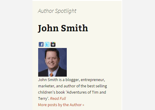 Author Spotlight Widget