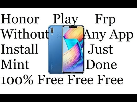 Honor play Frp Without Any App install Just Mint Done