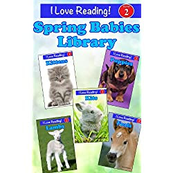 Spring Babies Library (5 Books for Level 2 Readers) (I Love Reading)