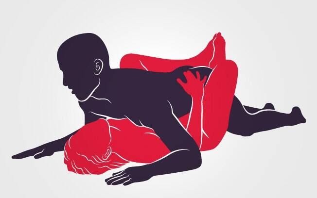 """40. PIRÂMIDE DO FARAÓ: Ela recebe o """"faraó"""" entre as pernas e com os pés unidos por cima do bumbum dele . Foto: Renato Munhoz (Arte iG)"""