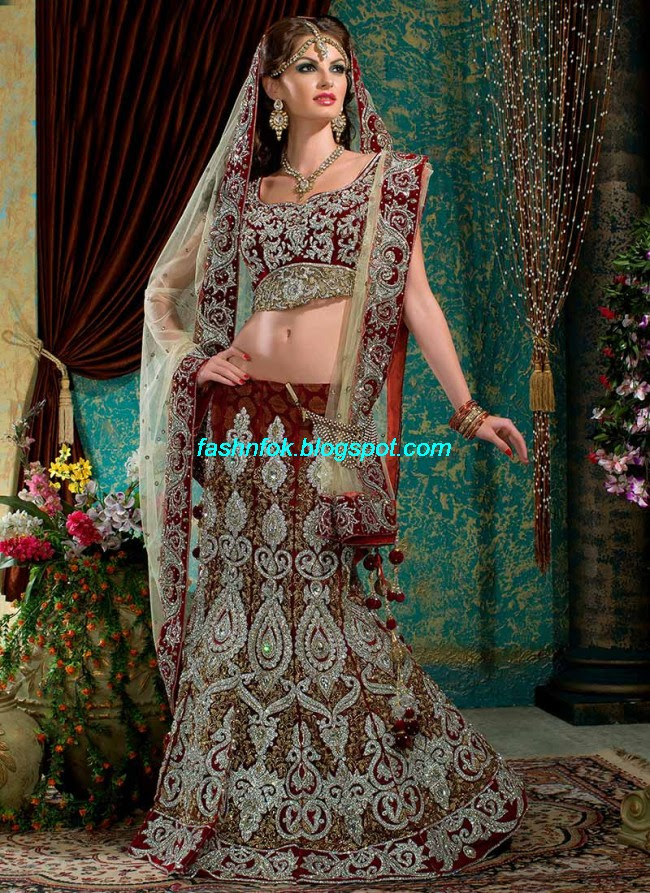 Beautiful-Cute-Girls-Wear-Bridal-Lehenga-Choli-New-Fashion-Dress-Design-2013-6
