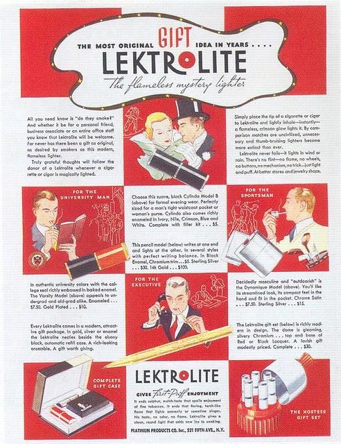 Lektrolite Lighter, 1933