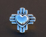 I Love New Mexico Sterling Silver Lapel Pin