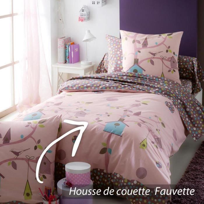 Housse de couette 200x200 cm 100% coton FAUVETTE - Achat / Vente housse de couette - Cdiscount
