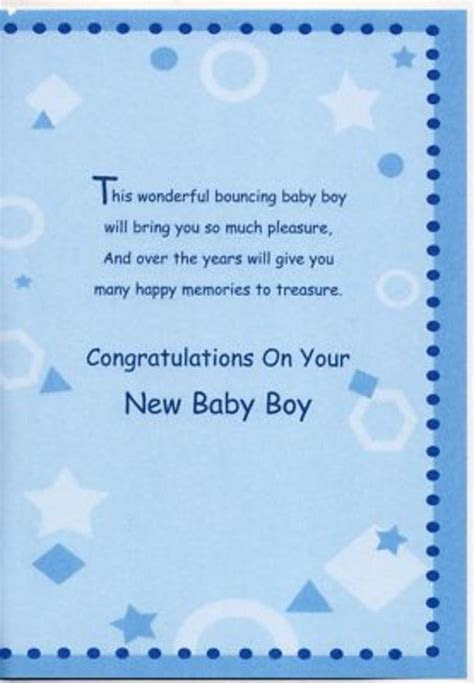 New Baby Boy Quotes For Cards 50 Best Templates