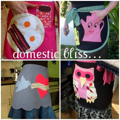 Handmade aprons by snappyshop