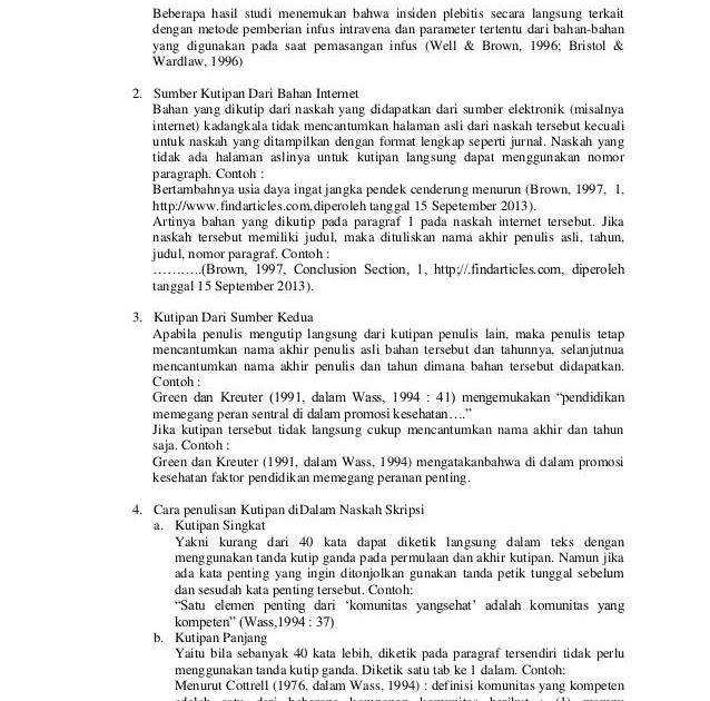 Contoh Footnote Dalam Karya Ilmiah - Job Seeker