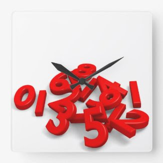 Fallen numbers Wall Clock