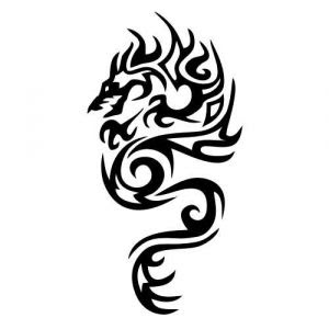 Tattoo Drachen Tribal Clipart Best