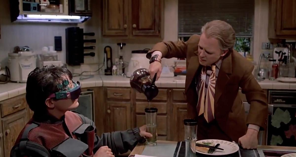 Not only did the movie get wearable computing right, they even made the devices similar to Google Glass.