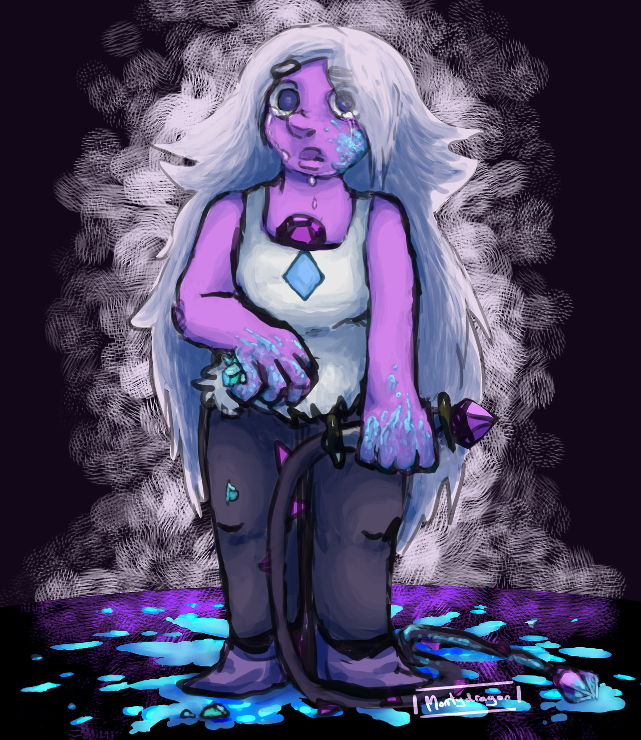 D'ya ever just remember that Amethyst was supposed to be a ruthless soldier