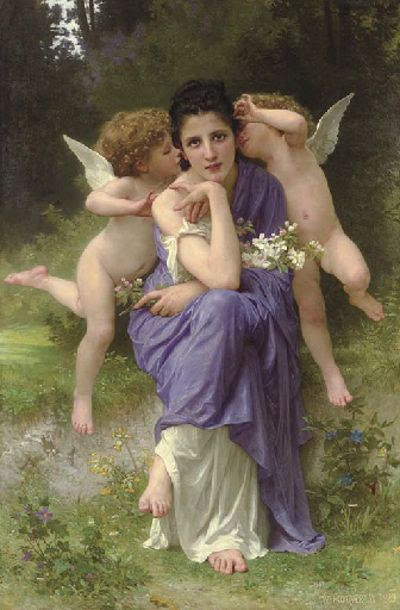 Chansons de Printemps-William Adolphe Bouguereau (1825 – 1905, French)