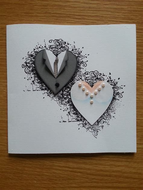 handmade wedding card from Lotta´s blog: Paper piecing