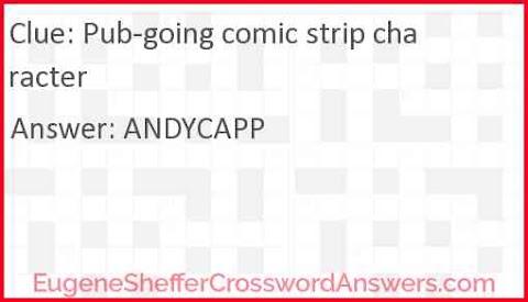 Pub Going Comic Strip Character Crossword