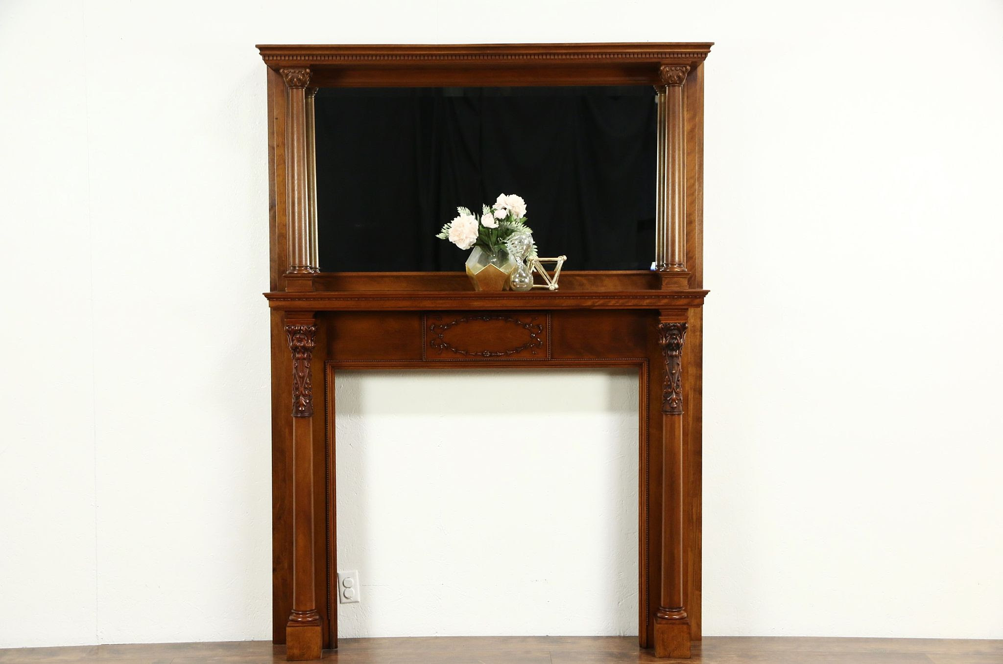 Sold Fireplace Mantel Mirror 1895 Antique Architectural Salvage