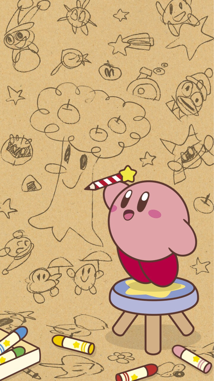 Nintendo S Line Shares Two More Kirby Phone Wallpapers