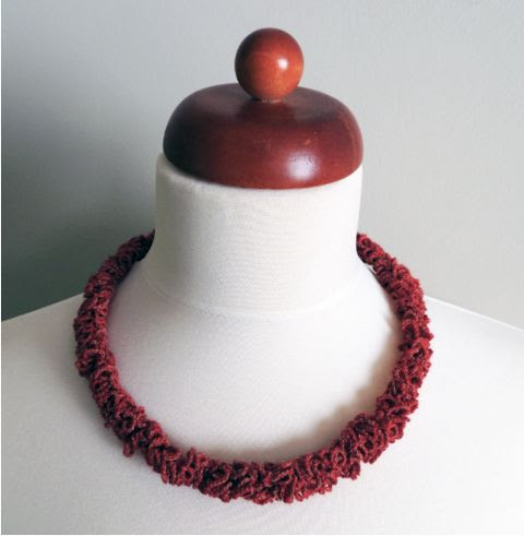 PaperPhine presents: Zsazsazsu Crochet Necklace made of PaperYarn and Wool
