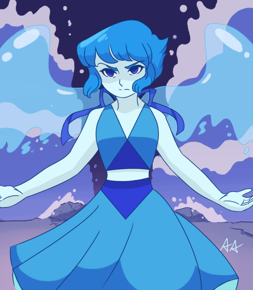 drew my second favorite gem. Edit: changed the image a bit with overlay so it looks slightly better and brighter.
