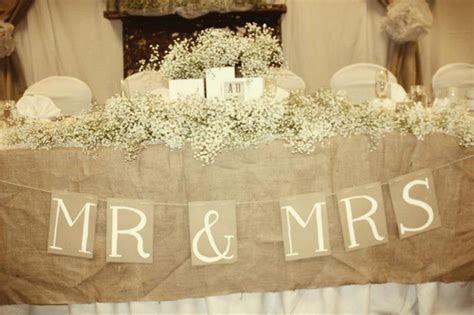 Rustic, Vintage Wedding .Head Table   Janey B. Designs