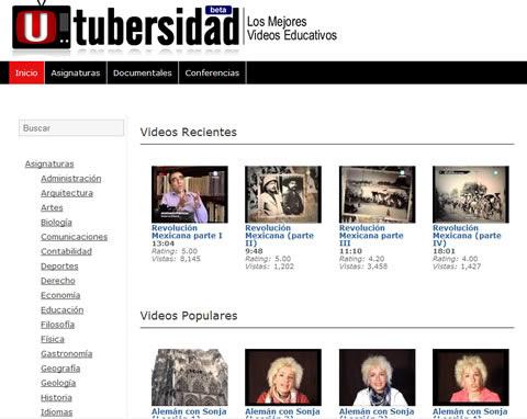 utubersidad Videos educativos en UTubersidad