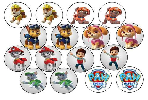 Cake Decorating Paw Patrol Edible Picture Cupcake Toppers Was Sold