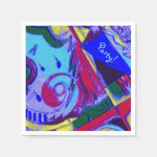 Colorful Art on Party Napkins