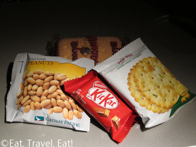 Snacks on Cathay Pacific