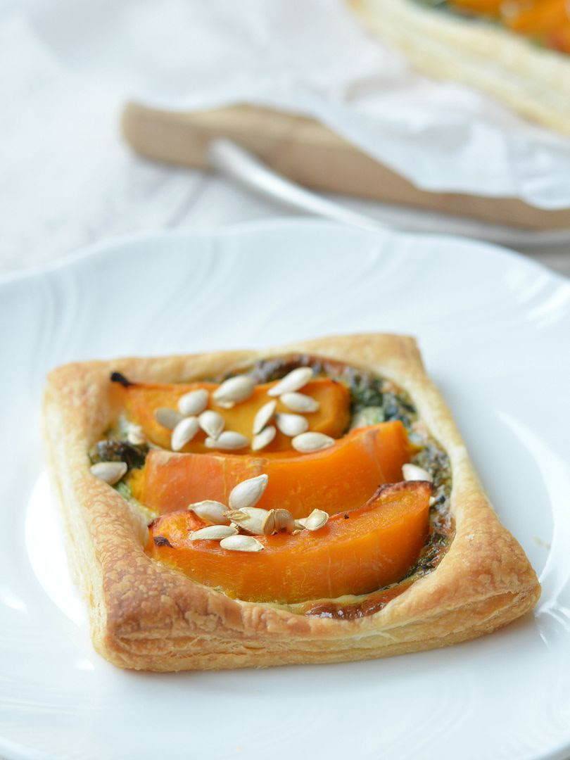 Butternut Squash & Spinach Tarts