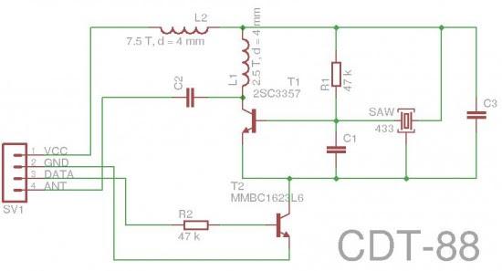 CDT-88 Transmitter Schematic
