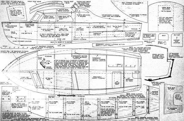 Big Twin R/C Outboard Motorboat, May 1957 American Modeler - Airplanes