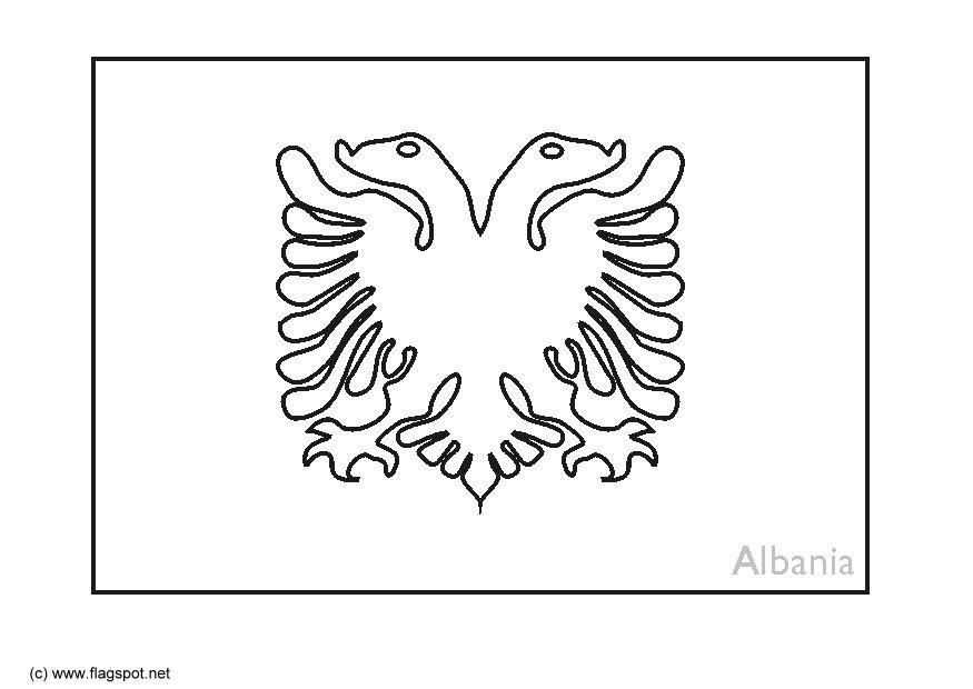 Coloring Page Flag Albania - Img 6364. - Coloring Home