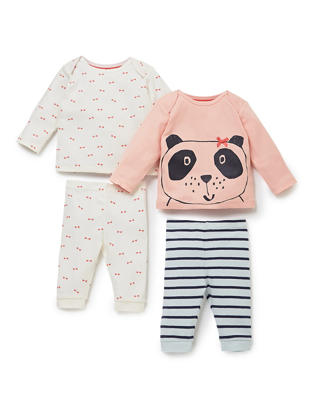 4 Piece Pure Cotton Assorted Pyjamas