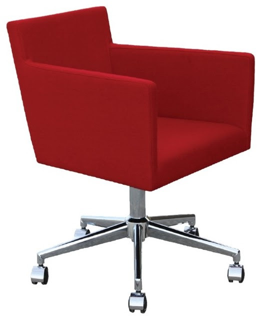 Harput Arm Office Chair by sohoConcept - Red Wool - contemporary ...