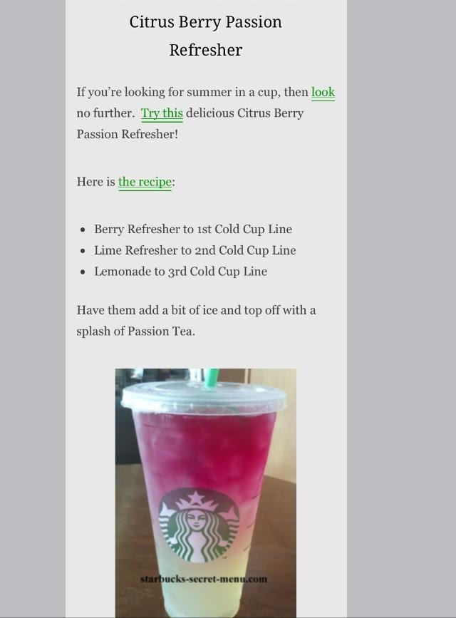 14 Starbucks Secret Menu Drinks Recipes ...😋😋😋 | Trusper